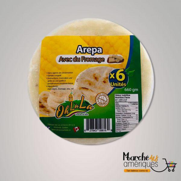 Arepas De Maiz Con Queso Ohlala 6 Unidades 660 G