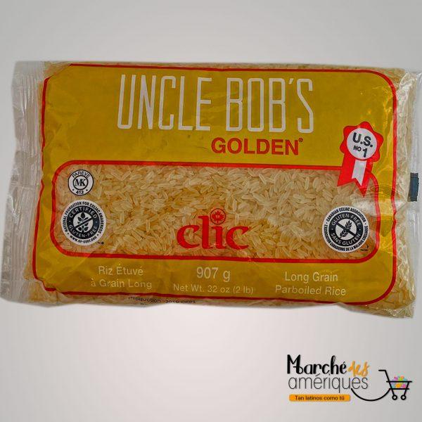 Arroz Cocido De Grano Largo Uncle Bobs Golden Clic 2 Lb