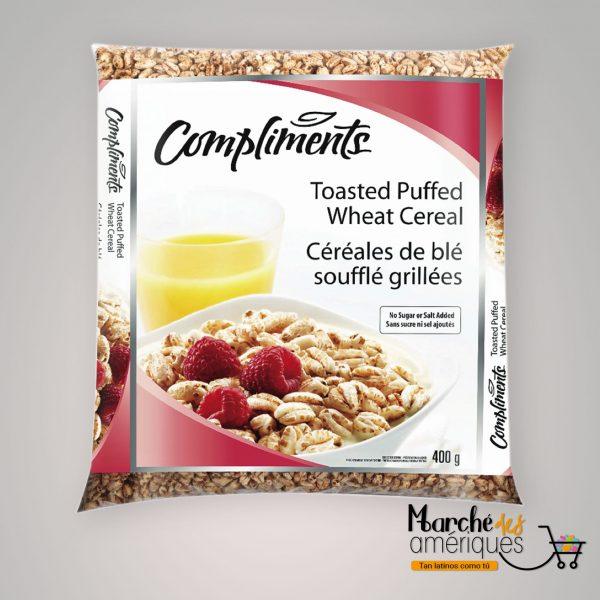 Cereales Tostados De Trigo Inflado Compliments 400 G