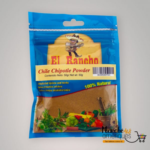 Chile Chipotle En Polvo El Rancho 50 G