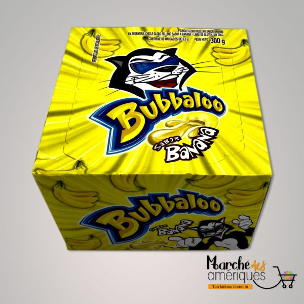 Goma Mascar Centro Liquido Banano Bubbaloo 50 Unidades