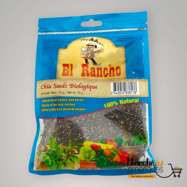 Semillas De Chia Organicas El Rancho 70 G