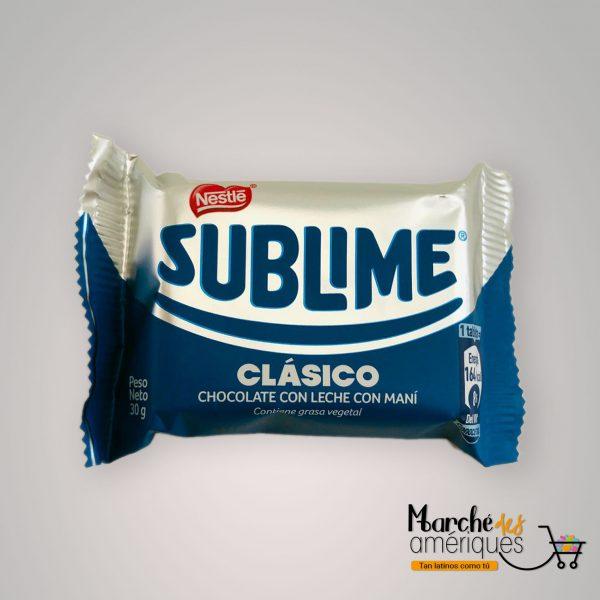 Sublime Clasico Chocolate Con Leche Con Mani Nestle 30 G