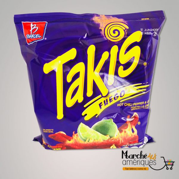 Takis Fuego Tortilla Chips Barcel 113 G