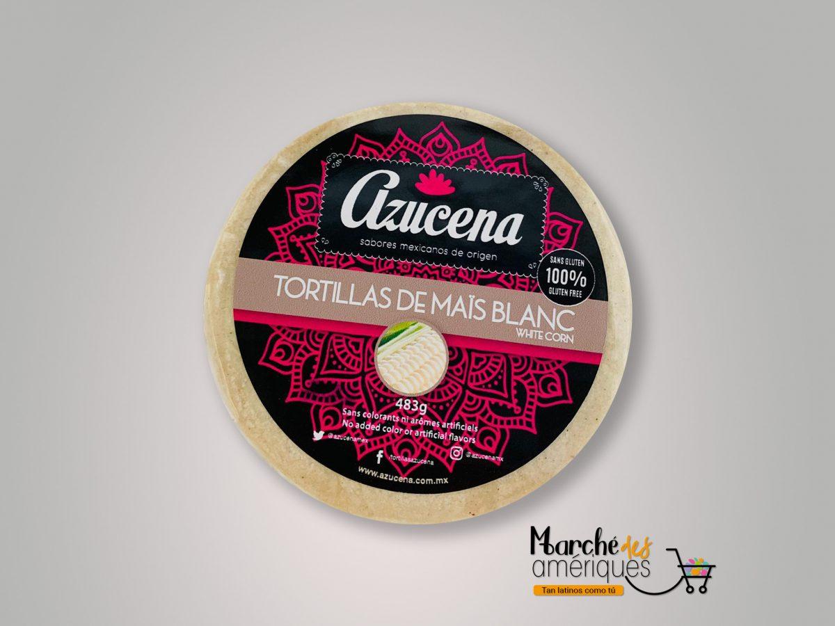 Azucena Tortillas De Maiz Blanco 483 G