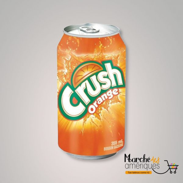 Bebida Gaseosa De Naranja En Lata Crush 355 Ml