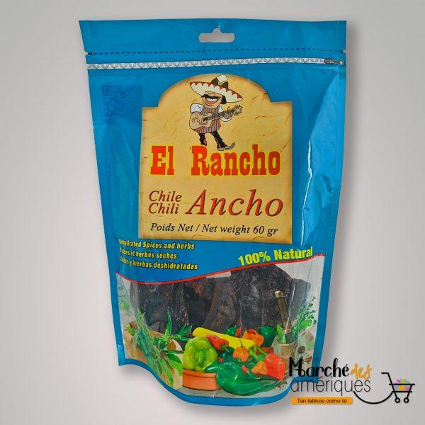 Chile Ancho Entero El Rancho 60 G