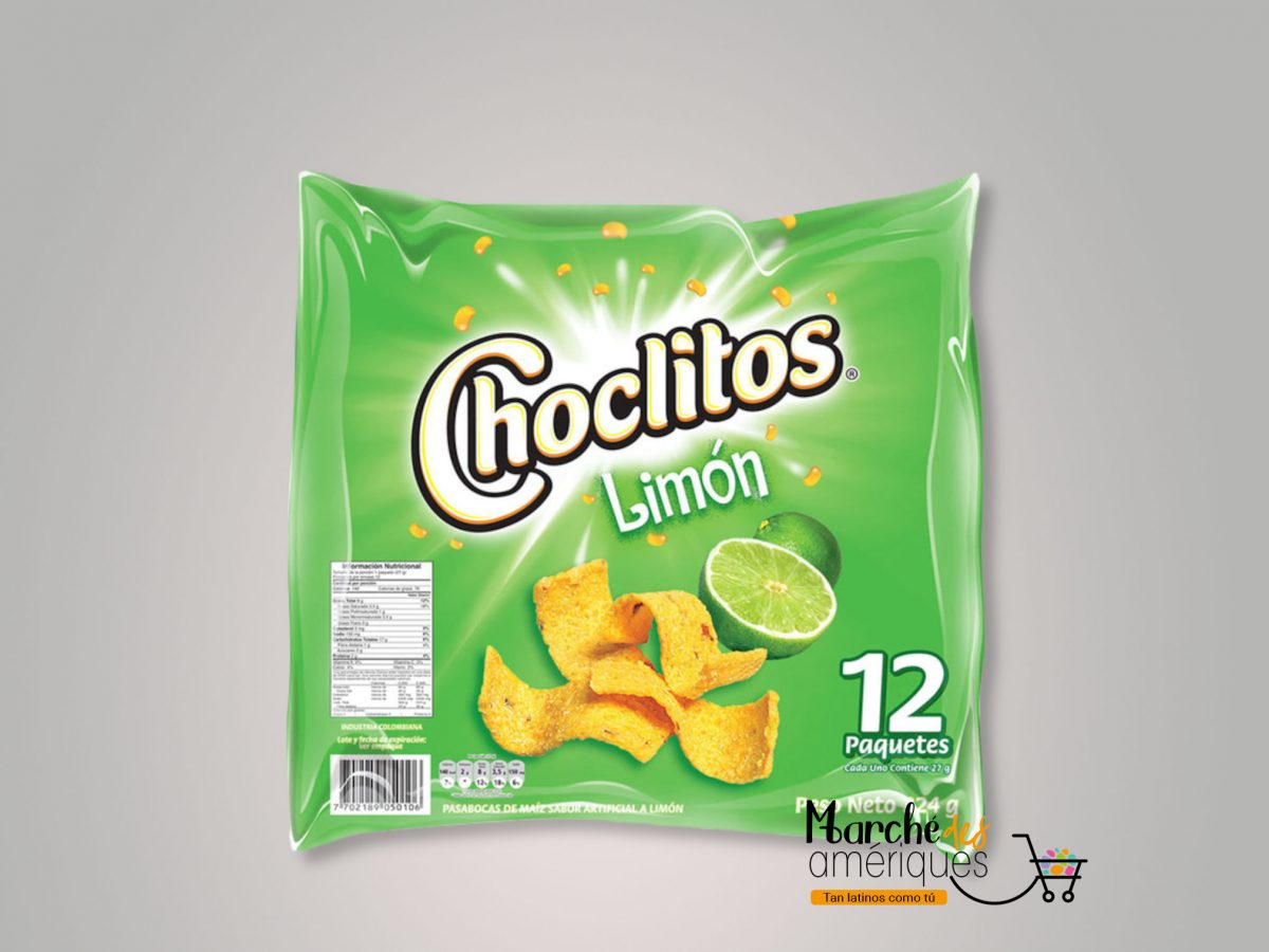 Choclitos Limon Frito Lay 12 Paquetes 324 G
