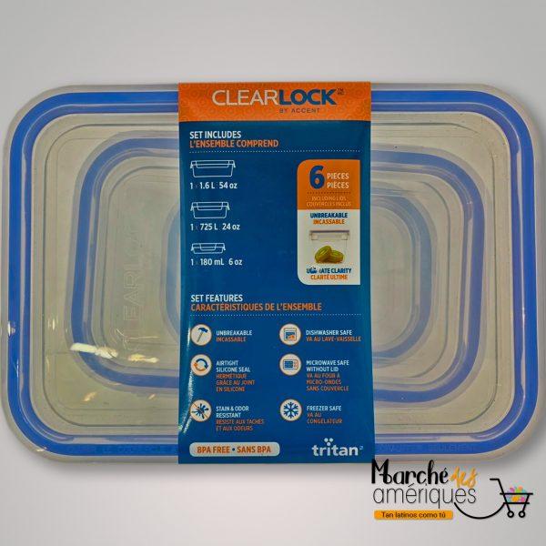 Clearlock Cubiertas Hermeticas De Plastico Tritan 3 Und