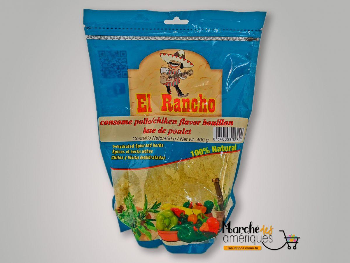 Consome Pollo Especias Deshidratadas El Rancho 400 G