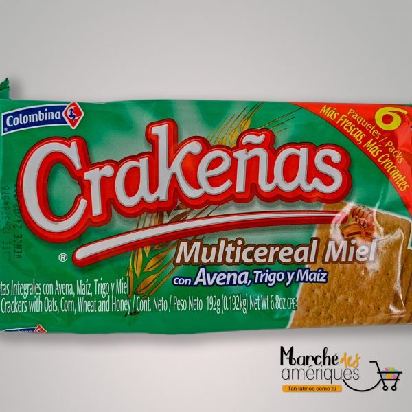 Crakenas Multicereal Miel Colombina 192 G