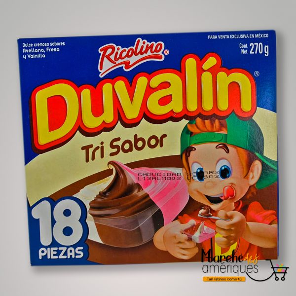 Duvalin Dulce De Fresa Vainilla Y Chocolate Ricolino 18 X 270 G
