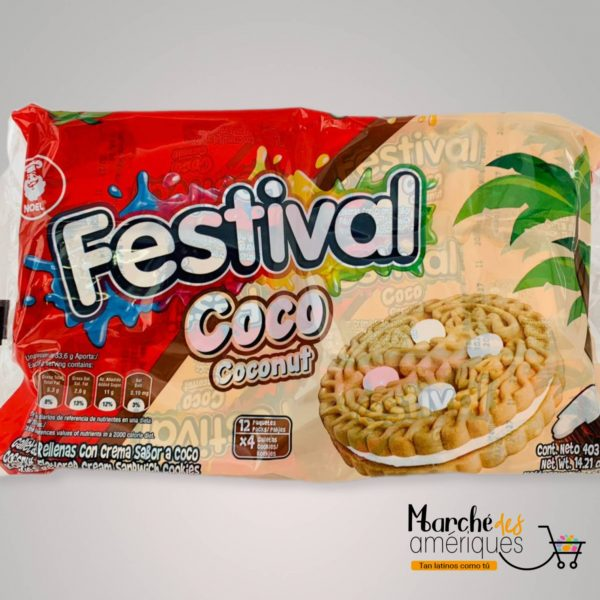Galletas De Coco Festival 12 Unidades