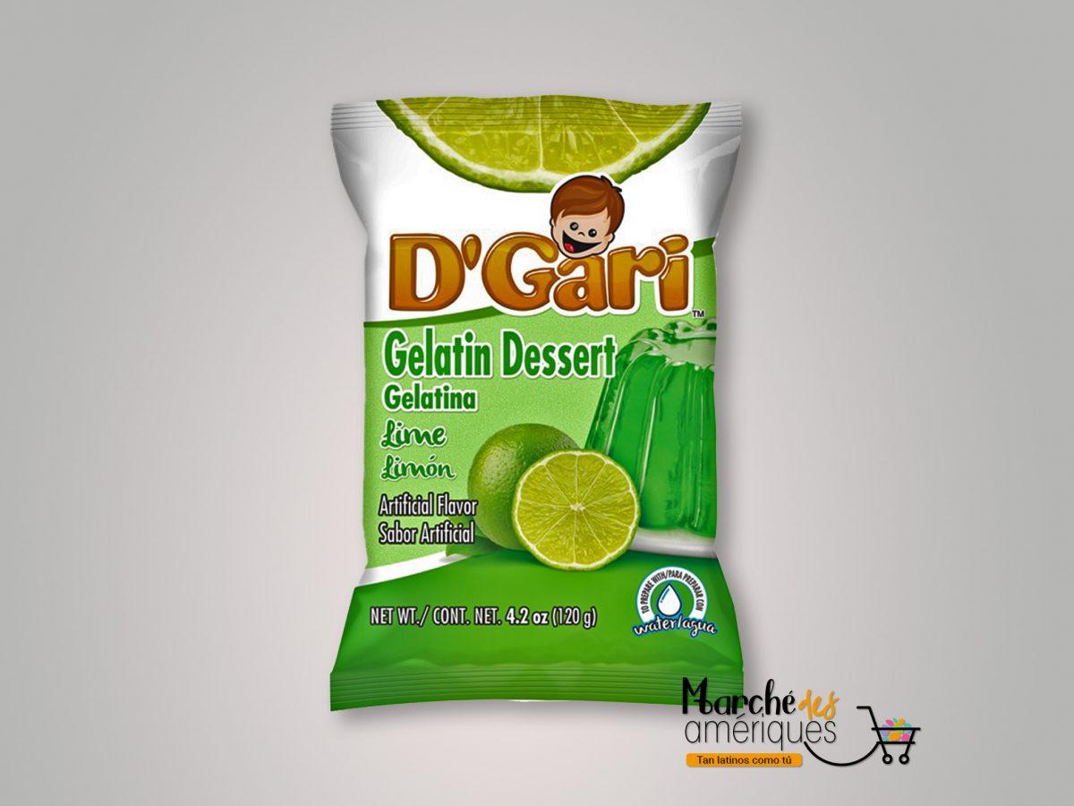 Gelatina De Limon Agua D Gari 120 G