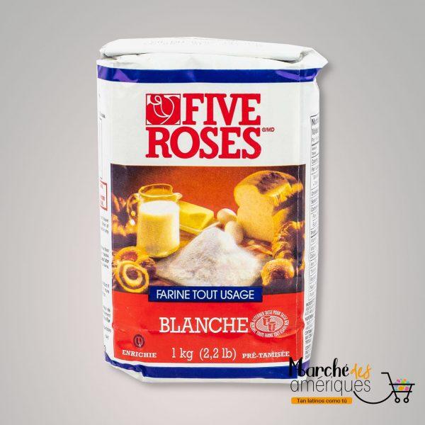Harina De Trigo Blanca Todo Uso Five Roses 1 Kg