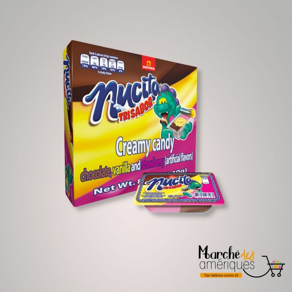 Nucita Trisabor Chocolate Y Vainilla Nutresa 18 Unidades