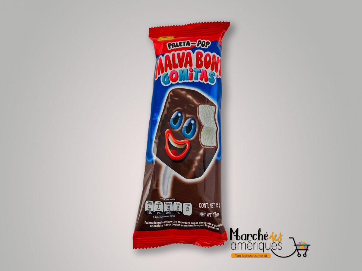 Paleta Malva Bony De Malvavisco Y Chocolate De La Rosa 45 G