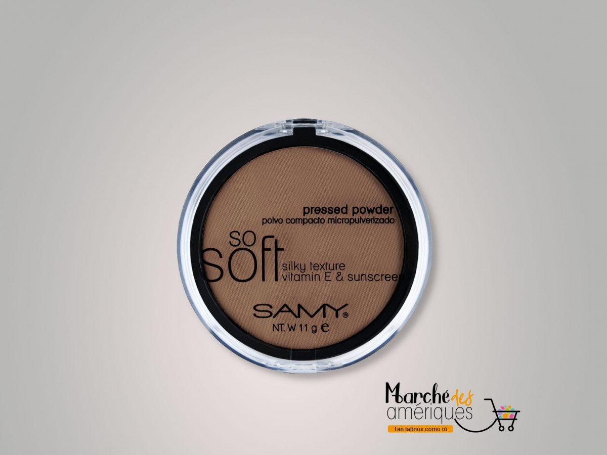 Polvo Compacto Micropulverizado So Soft Mineral 08 Moka Samy 11 G