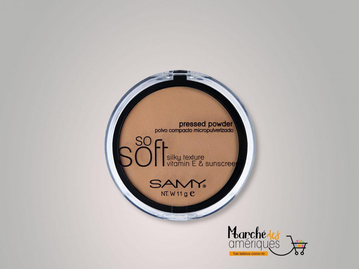 Polvo Compacto Micropulverizado So Soft Mineral 10 Ambar Samy 11 G