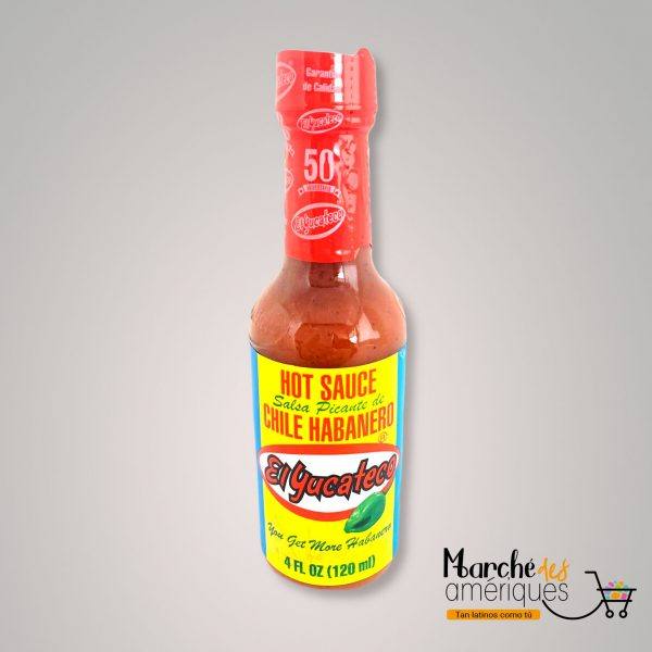 Salsa Picante De Chile Habanero Rojo El Yucateco 120 Ml