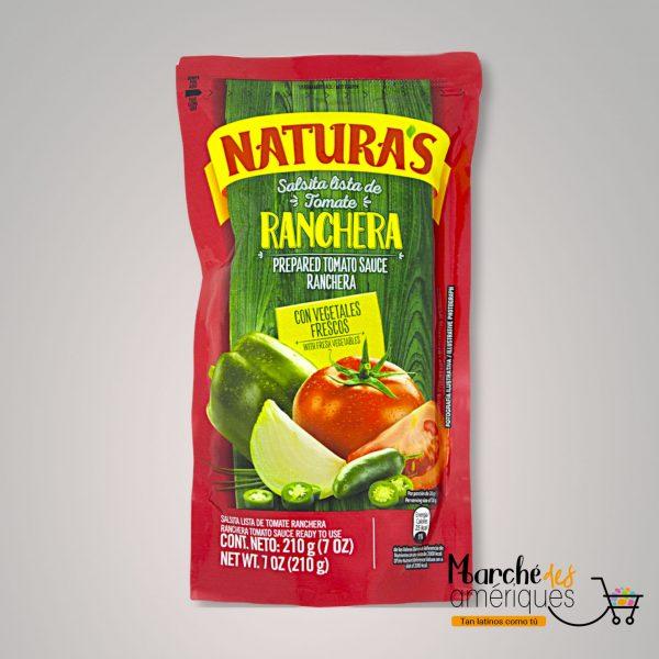 Salsita Lista De Tomate Ranchera Naturas 210 G