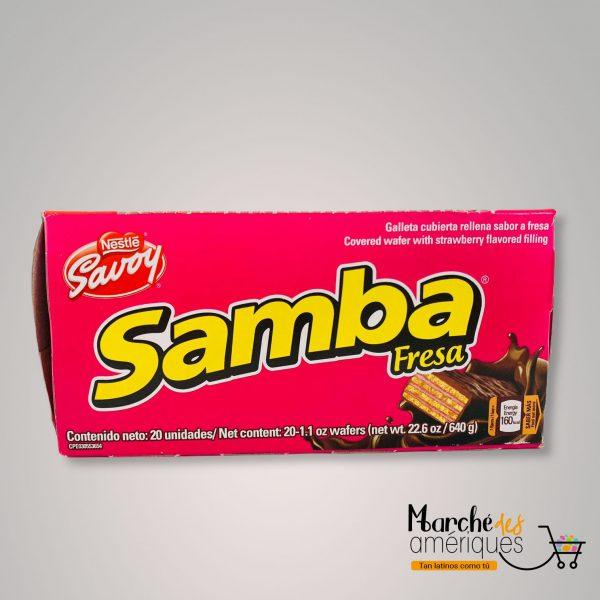 Samba Galleta Cubierta De Fresa Nestle Savoy 640 G